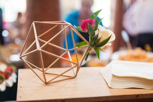 Gold geometric wedding decoration