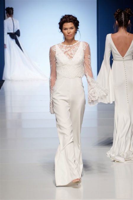 Antonia Bridal Jumpsuit with Tamara Jacket from the Sassi Holford 2018 Bridal Collection