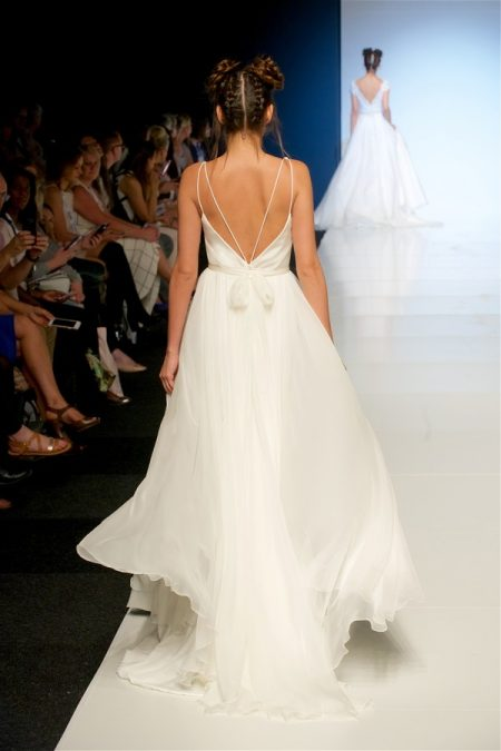 Back of Celia Wedding Dress from the Sassi Holford 2018 Bridal Collection