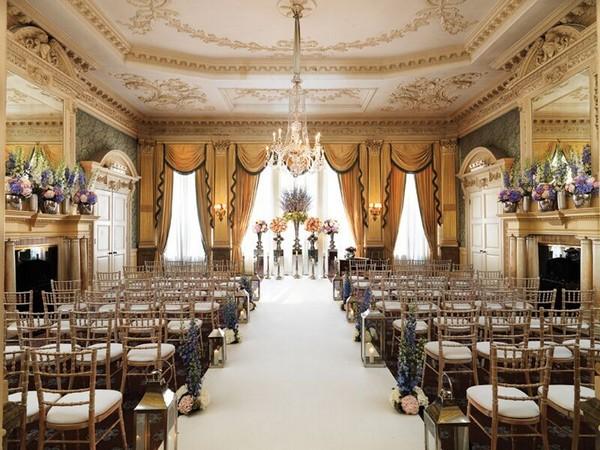 Wedding Ceremony Seating at Claridge's in London