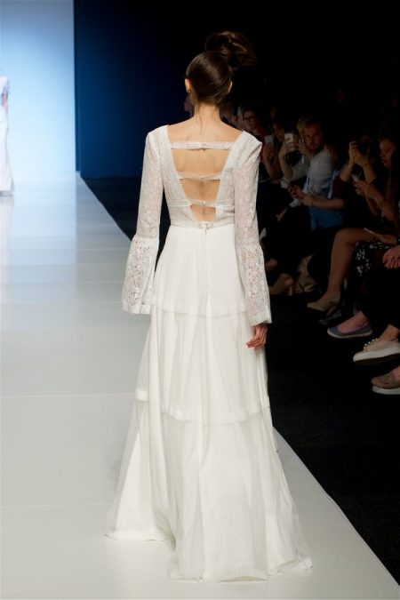Back of Constance Wedding Dress from the Sassi Holford 2018 Bridal Collection