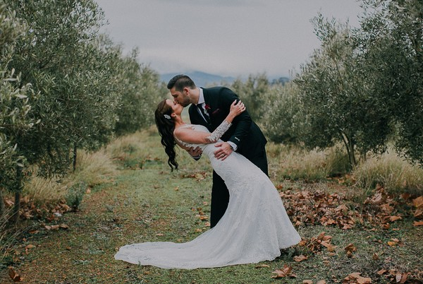 A Luxe Winter Wedding at a Vineyard