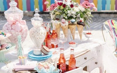 Colourful 1960's Mod Inspired Ice Cream Hen Party