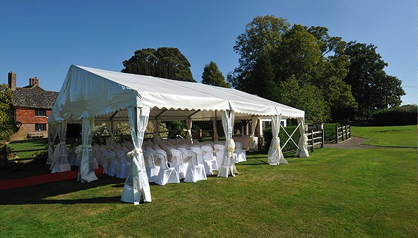Open-Sided Marquee at Brewerstreet Farmhouse