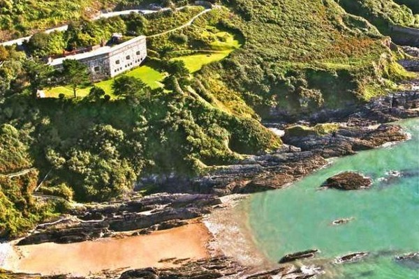 Polhawn Fort on Cliff Edge in Cornwall