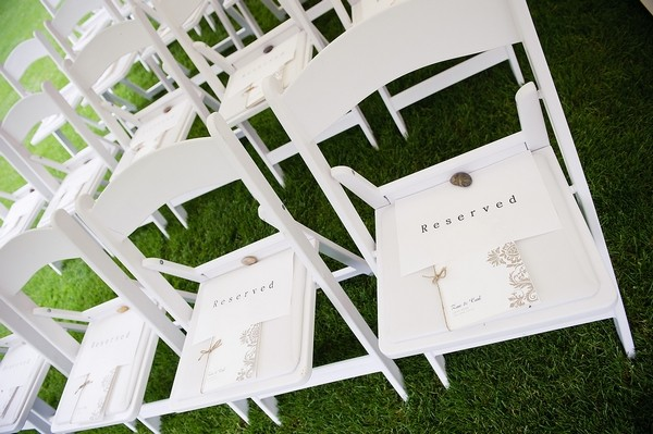 Reserved Signs on Wedding Ceremony Chairs
