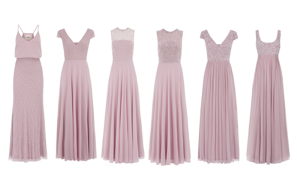 Styles of Pale Pink Bridesmaid Dresses from Motee Maids