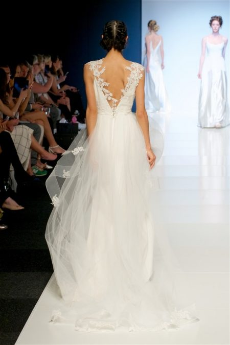 Back of Tamara Wedding Dress with Sienna Top and Dana Skirt from the Sassi Holford 2018 Bridal Collection