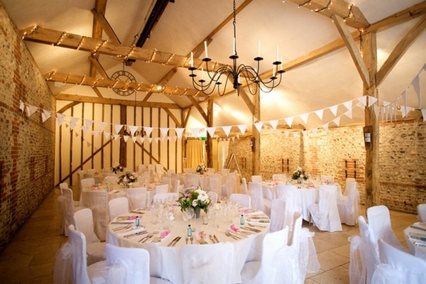 Wedding Tables at Upwaltham Barns in West Sussex