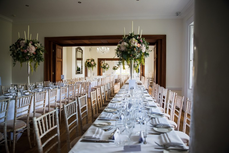 Wedding Breakfast Tables at Holbrook Manor