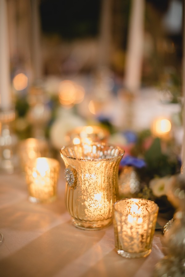 Votives with candles