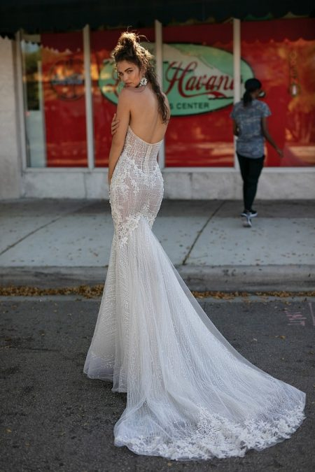 Back of 19-08 Wedding Dress from the BERTA Spring/Summer 2019 Bridal Collection