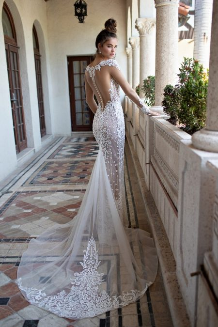 Back of 19-09 Wedding Dress from the BERTA Spring/Summer 2019 Bridal Collection