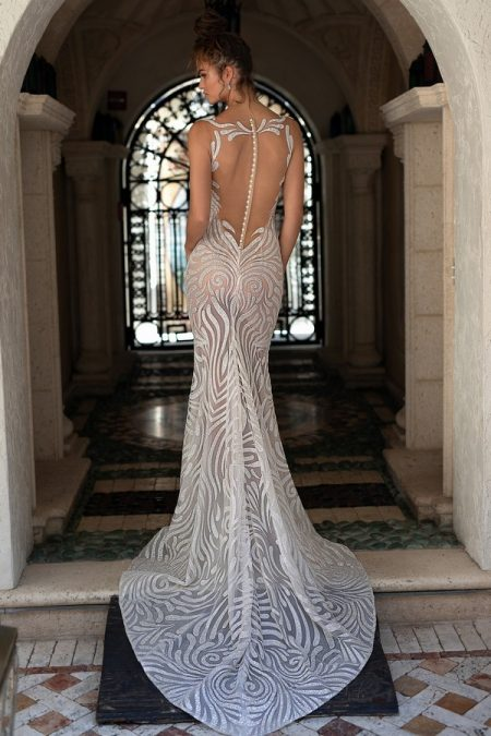 Back of 19-13 Wedding Dress from the BERTA Spring/Summer 2019 Bridal Collection
