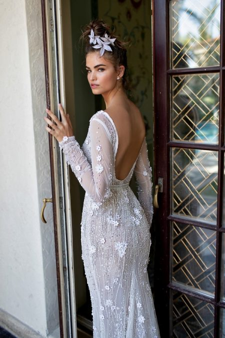 Back of 19-16 Wedding Dress from the BERTA Spring/Summer 2019 Bridal Collection