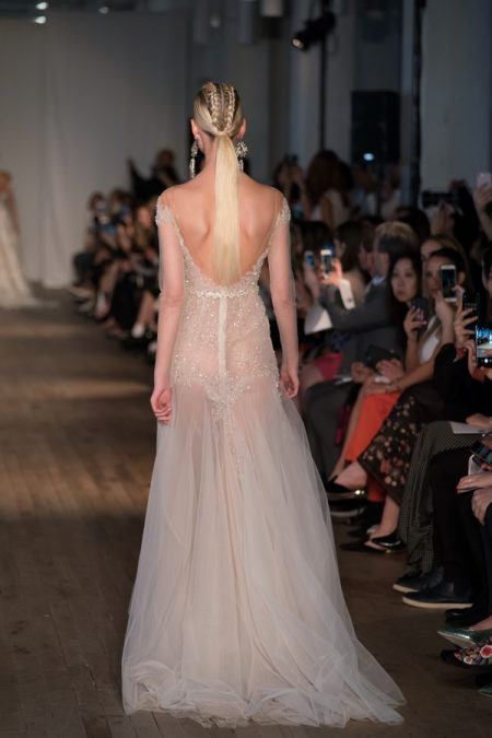 Back of 19-17 Wedding Dress from the BERTA Spring/Summer 2019 Bridal Collection