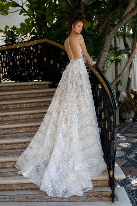 Back of 19-19 Wedding Dress from the BERTA Spring/Summer 2019 Bridal Collection