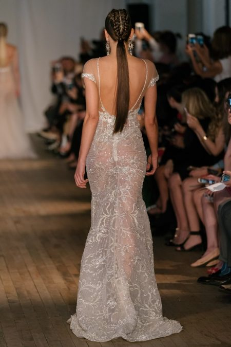 Back of 19-21 Wedding Dress from the BERTA Spring/Summer 2019 Bridal Collection