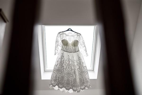 Vintage tea length wedding dress