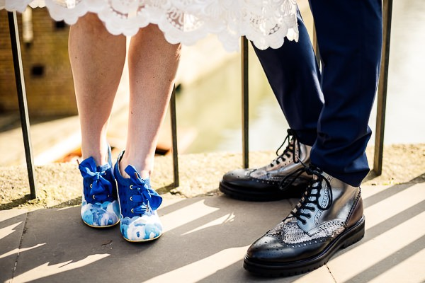 Bride and groom's Irregular Choice shoes and boots