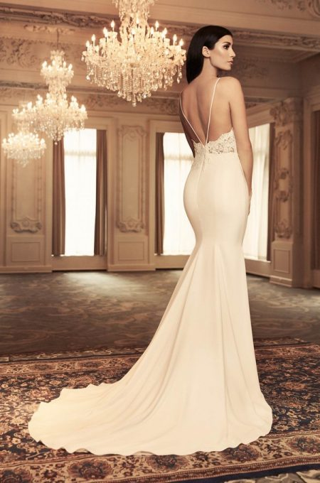 Back of 4800 Wedding Dress from the Paloma Blanca Fall/Winter 2018 Bridal Collection