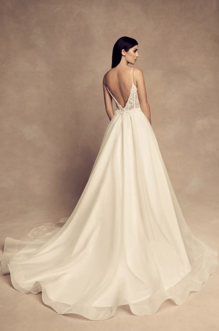 Back of 4802 Wedding Dress from the Paloma Blanca Fall/Winter 2018 Bridal Collection