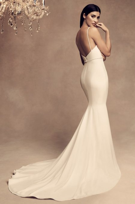 Back of 4805 Wedding Dress from the Paloma Blanca Fall/Winter 2018 Bridal Collection