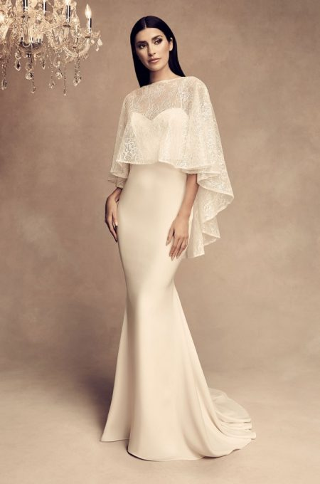 4805 Wedding Dress with Cape from the Paloma Blanca Fall/Winter 2018 Bridal Collection