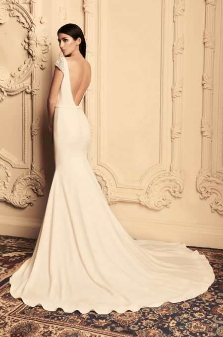 Back of 4807 Wedding Dress from the Paloma Blanca Fall/Winter 2018 Bridal Collection