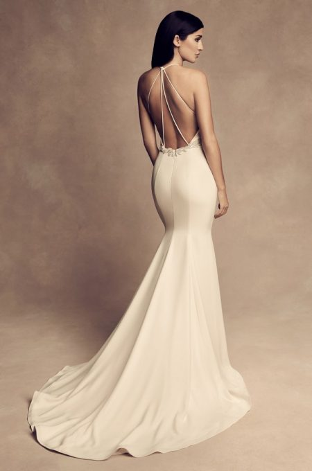 Back of 4809 Wedding Dress from the Paloma Blanca Fall/Winter 2018 Bridal Collection