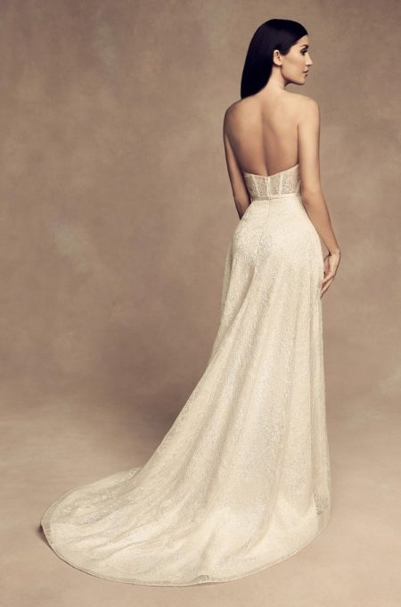 Back of 4812 Wedding Dress from the Paloma Blanca Fall/Winter 2018 Bridal Collection