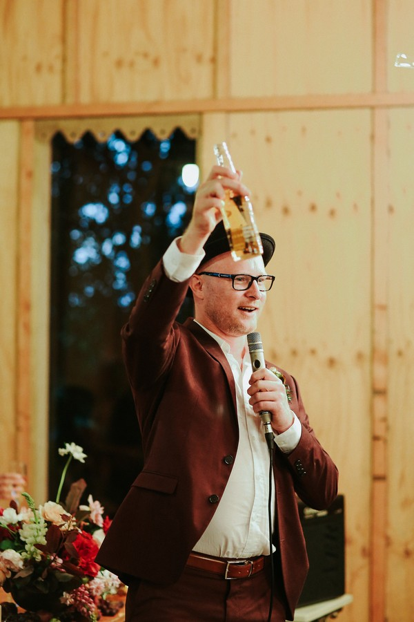 Best man toasting