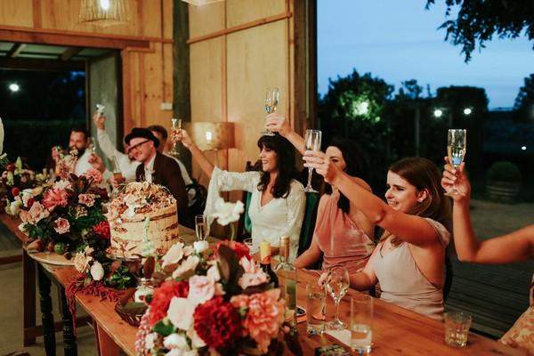 Toasting wedding speeches