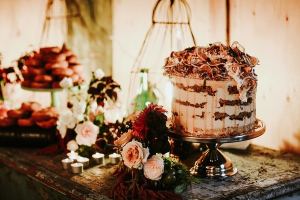 Small wedding cake table