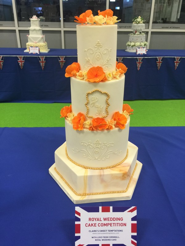 Roydal wedding cake made by Claire's Sweet Temptations