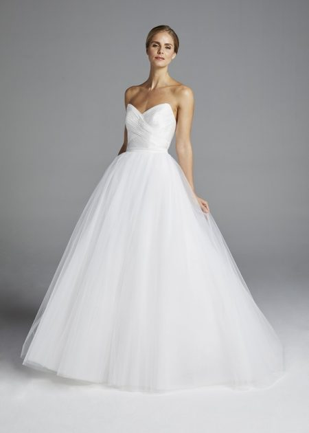 Amal Wedding Dress with Overskirt from the Anne Barge Spring 2019 Bridal Collection