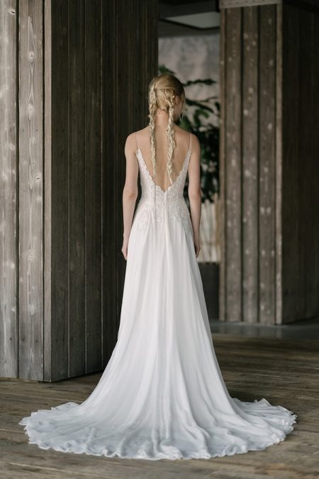 Back of Bacall Wedding Dress from the Rita Vinieris Rivini Spring 2019 Bridal Collection