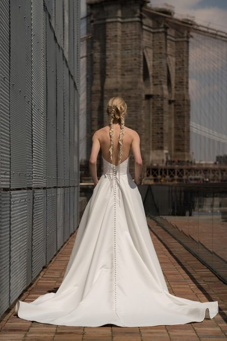 Back of Blanchett Wedding Dress from the Rita Vinieris Alyne Spring 2019 Bridal Collection