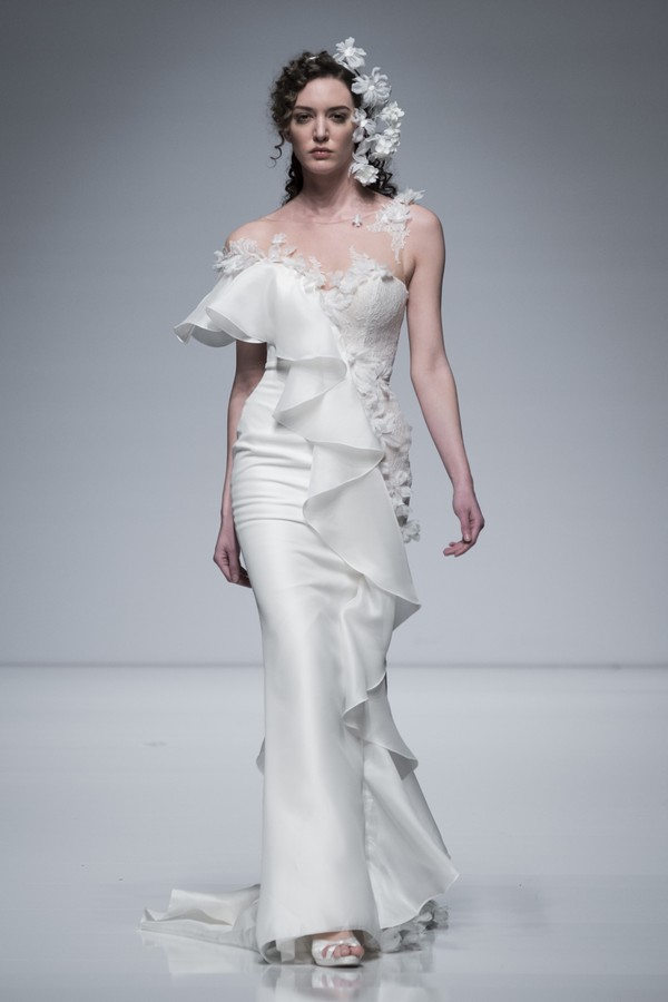 Brian Chen 2019 Ruffled Wedding Dress