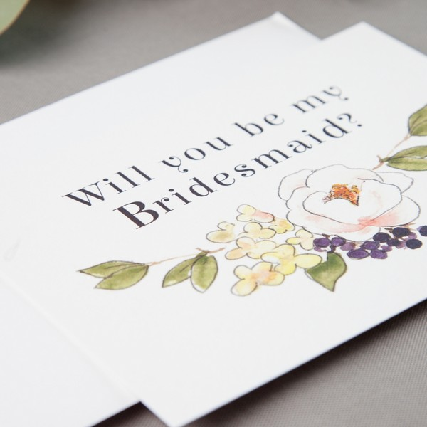 Bridesmaid Proposal Card by Anna Jayne Designs