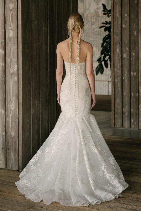 Back of Bullock Wedding Dress from the Rita Vinieris Rivini Spring 2019 Bridal Collection