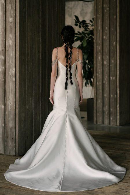 Back of Carson Wedding Dress from the Rita Vinieris Rivini Spring 2019 Bridal Collection