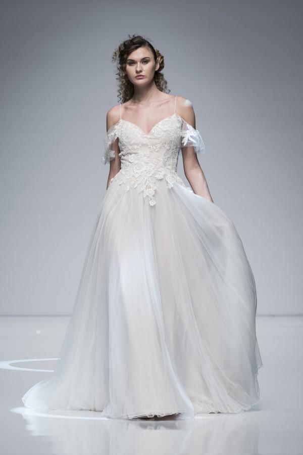 Casablanca 2019 Wedding Dress with Cold Shoulder Straps