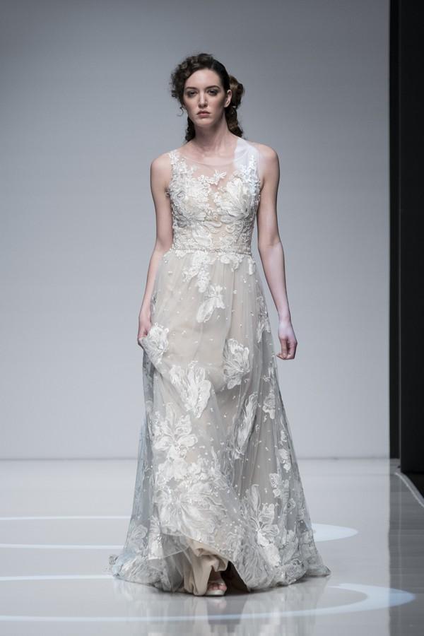 Casablanca 2019 Wedding Dress with High Neckline