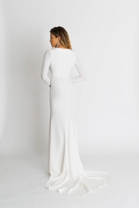 Back of Celine Wedding Dress from the Alexandra Grecco The Magic Hour 2018 Bridal Collection