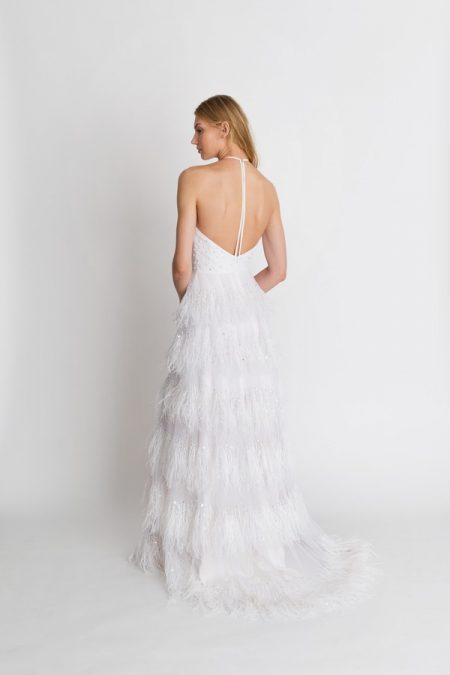 Back of Coco Wedding Dress from the Alexandra Grecco The Magic Hour 2018 Bridal Collection