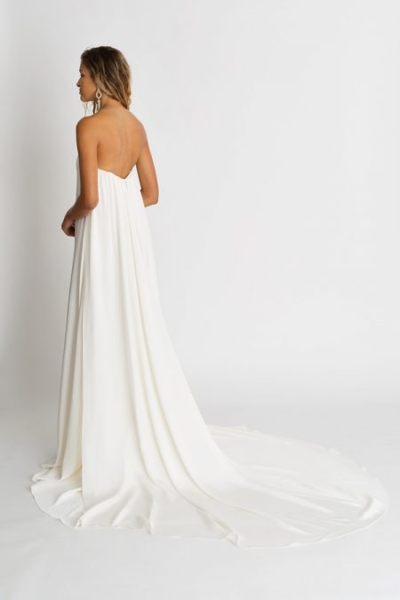 Back of Cohen Wedding Dress with Cape from the Alexandra Grecco The Magic Hour 2018 Bridal Collection