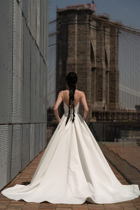 Back of Crawford Wedding Dress from the Rita Vinieris Alyne Spring 2019 Bridal Collection