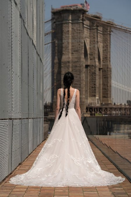 Back of Davis Wedding Dress from the Rita Vinieris Alyne Spring 2019 Bridal Collection