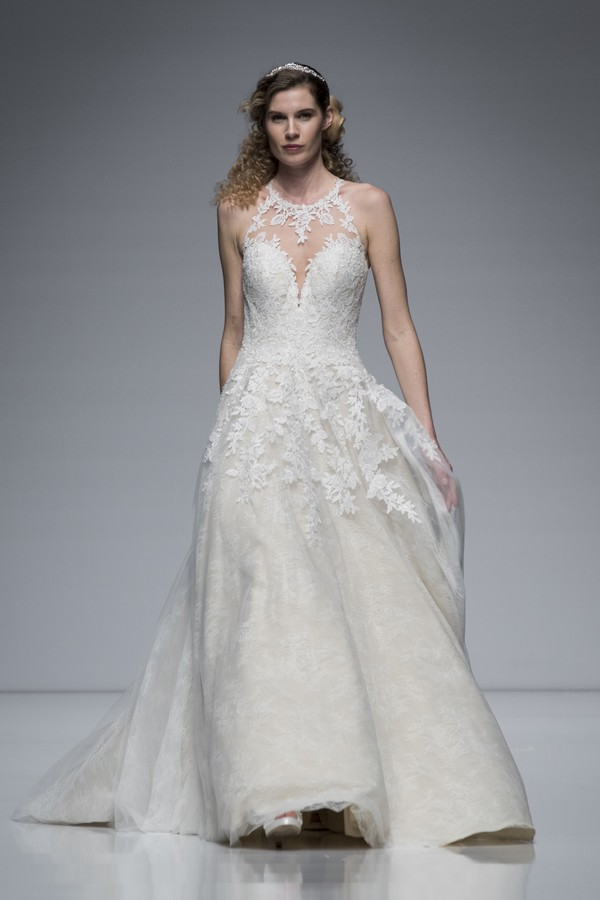 Ellis Bridals 2019 Wedding Dress with High Neckline